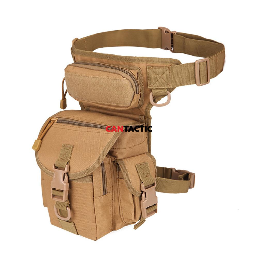 Tactical fanny thigh pack skewed view