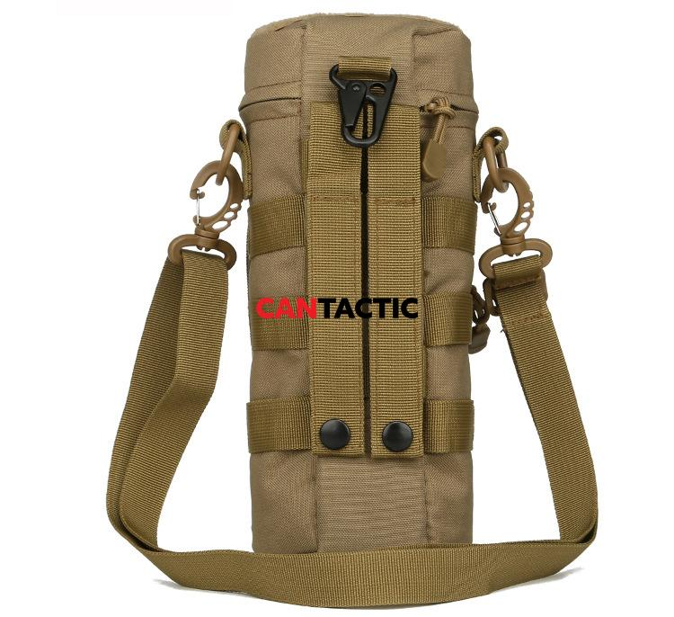 Shoulder Bag with Water Bottle Holder Carry Bag Tactical Molle Water Bottle Pouch for Outdoor Travel Hiking Camping