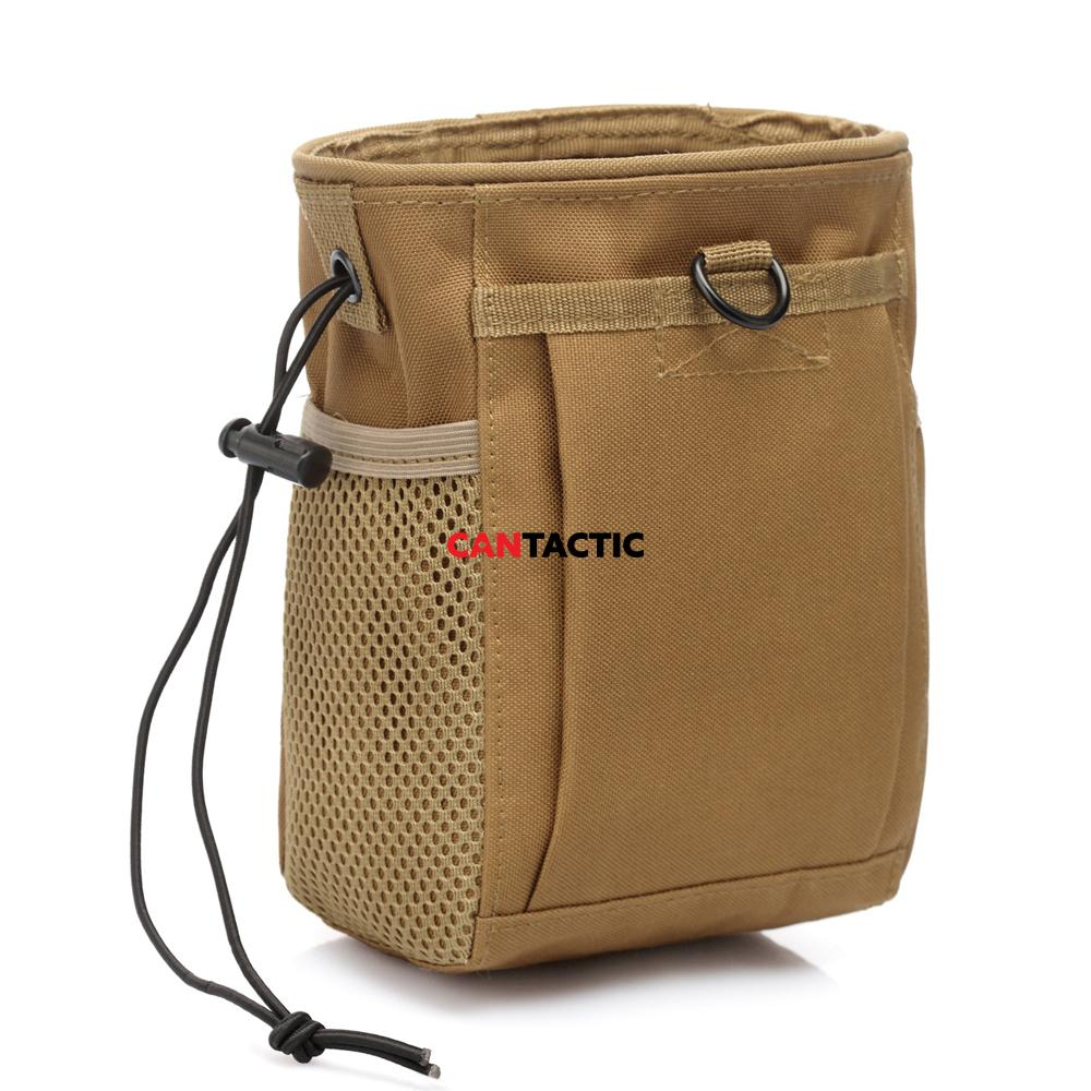 Tactical drawstring shot shell/ammo  dump pouch, Fits 1 case of shot shell ammo comfortably.