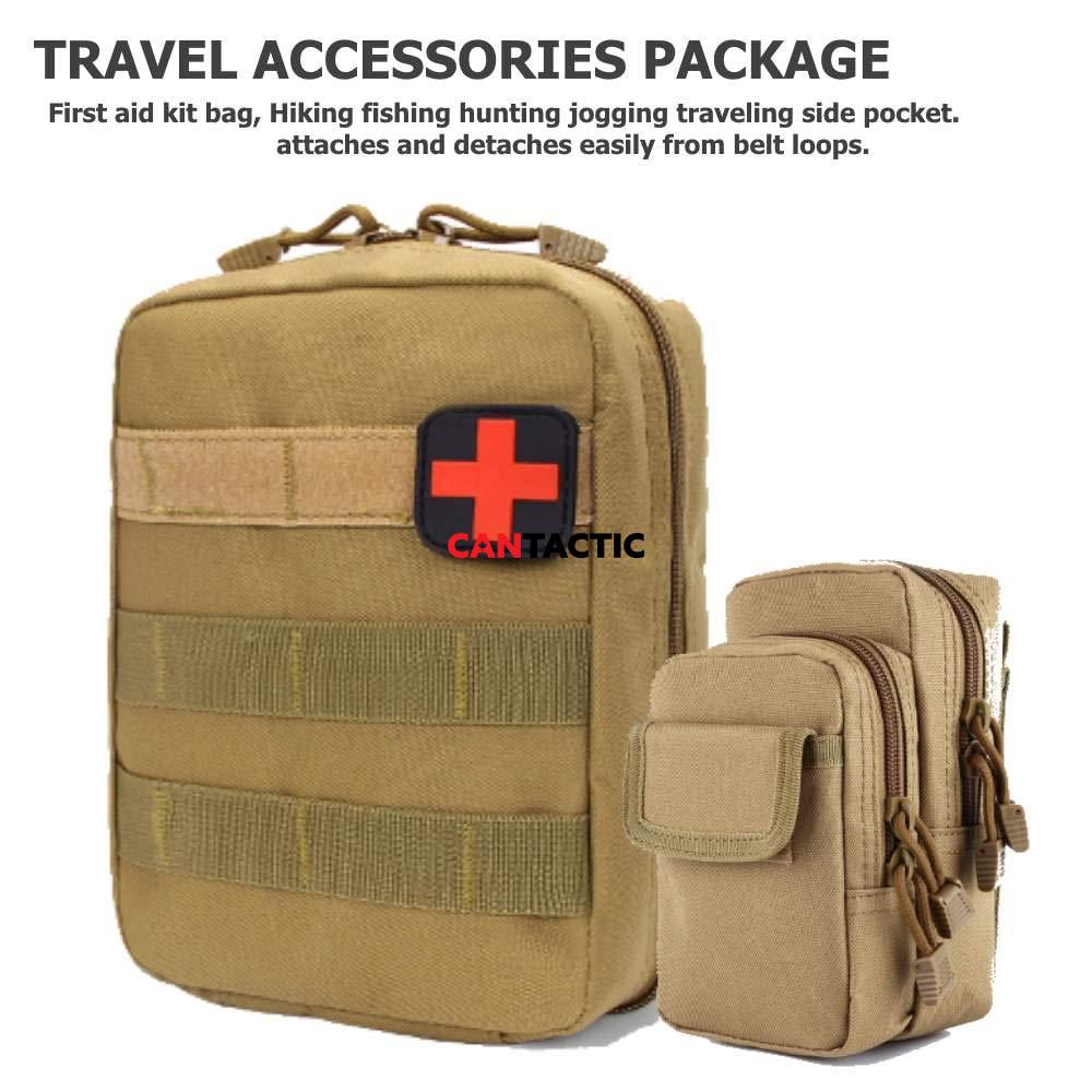 Travel accessories package first aid kit bag and survival kit bag