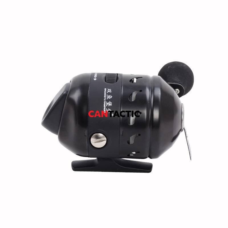 Bow fishing reel and mount combo bow mount steel black
