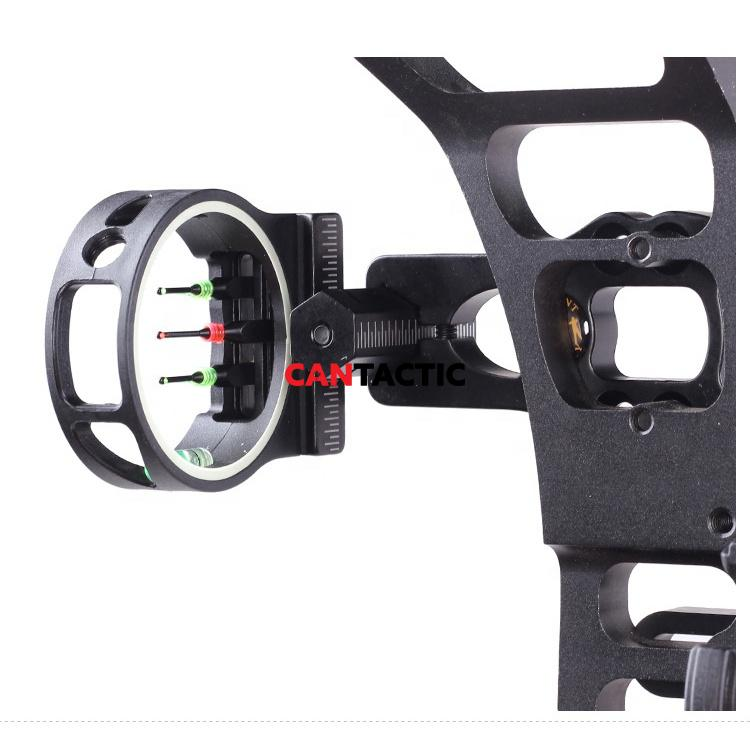 Aluminum Machined Compound Bow Sights Target Bow and Arrow Hunting 3 Pin Lighted Archery Sights