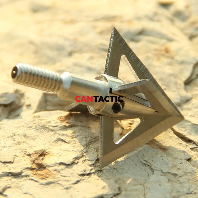 Sureshot 100Grain Arrow Tips Archery Outdoor Stainless Steel Broadhead for Shooting Hunting