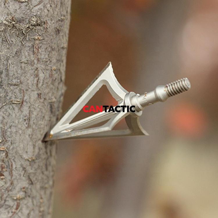 DropShot 125 Grain Arrow Tips Archery Outdoor Stainless Steel Broadhead for Shooting Hunting