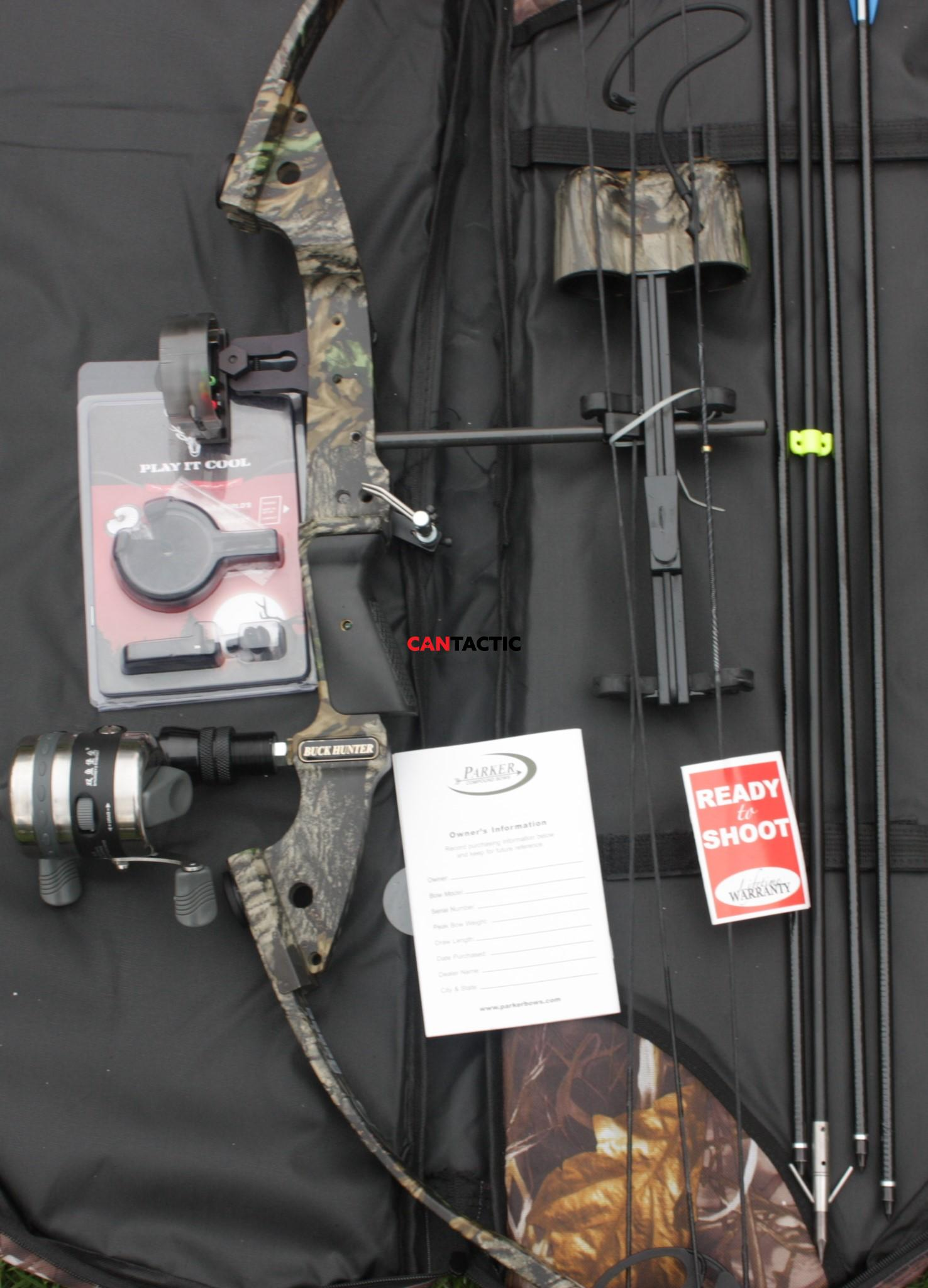 Parker Compound bow Buck Hunter Ready to Hunt Package Accessories Loaded Bow Fishing Package