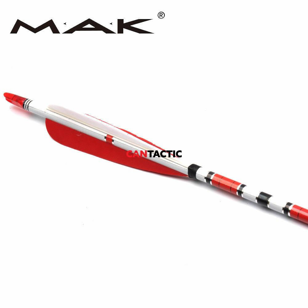 """Turkey feather arrows 31"""" 5"""" vanes 1 pack"""