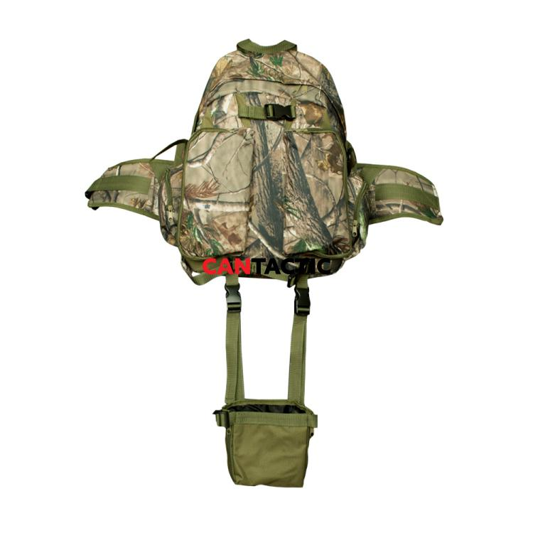 Hunting backpack with boot