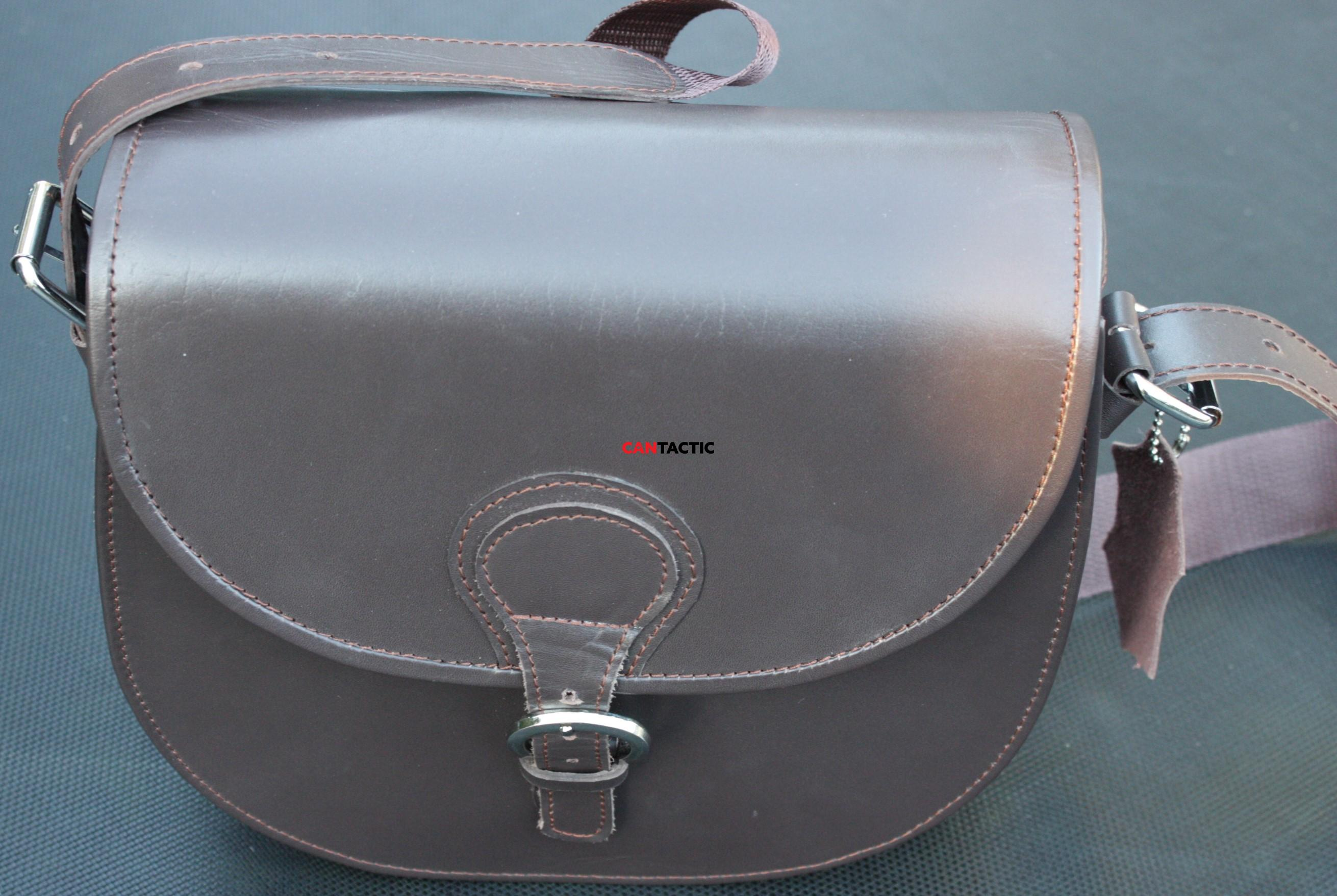 Single compartment leather bag