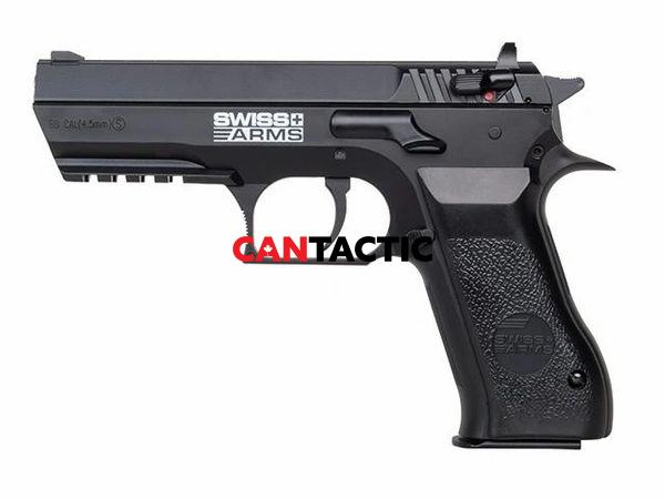 SWISS ARMS 941 .177 CALIBER 4.5MM CO2 BB PISTOL, WITH METAL SLID