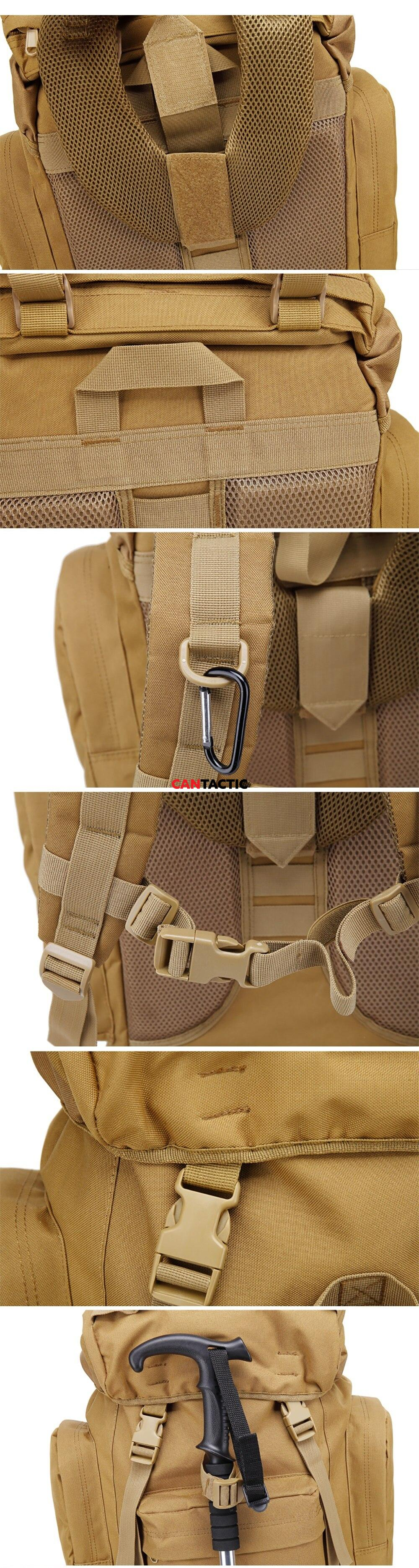 65L Internal Frame Waterproof Giant Tactical Backpack Military Rucksack