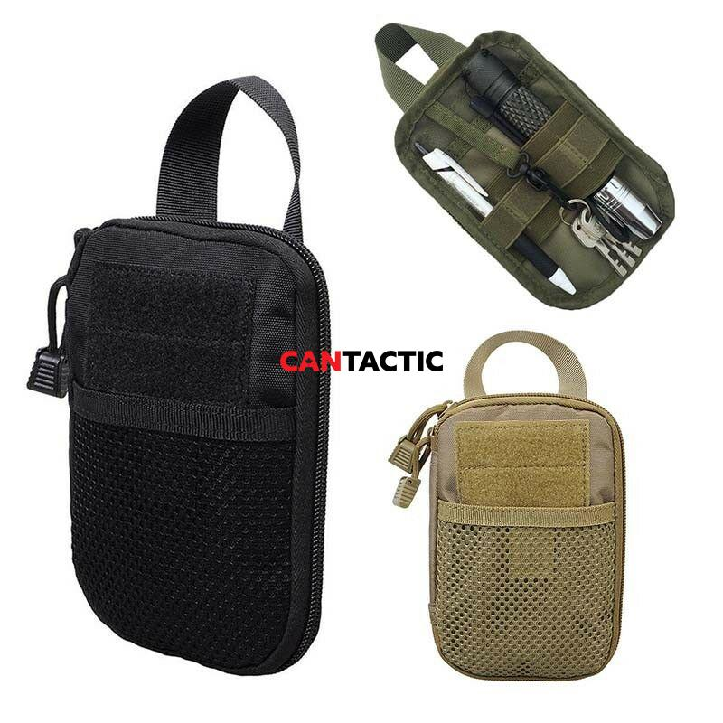Molle Tactical Medical First Aid EDC Pocket Organizer Bag Pouch EMT W/Belt Loop, Gear Tool Pouch for Men