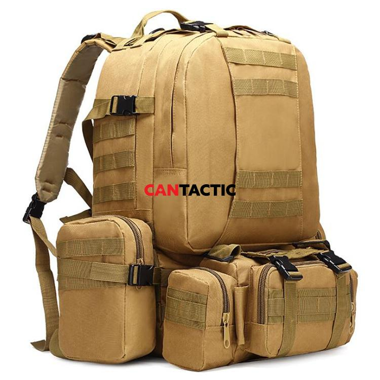 Tactical military grade backpack outdoor 3 day assault pack 50L 900D Rucksack Army Molle Bug Out Bag for Hiking Trekking Travelling Hunting