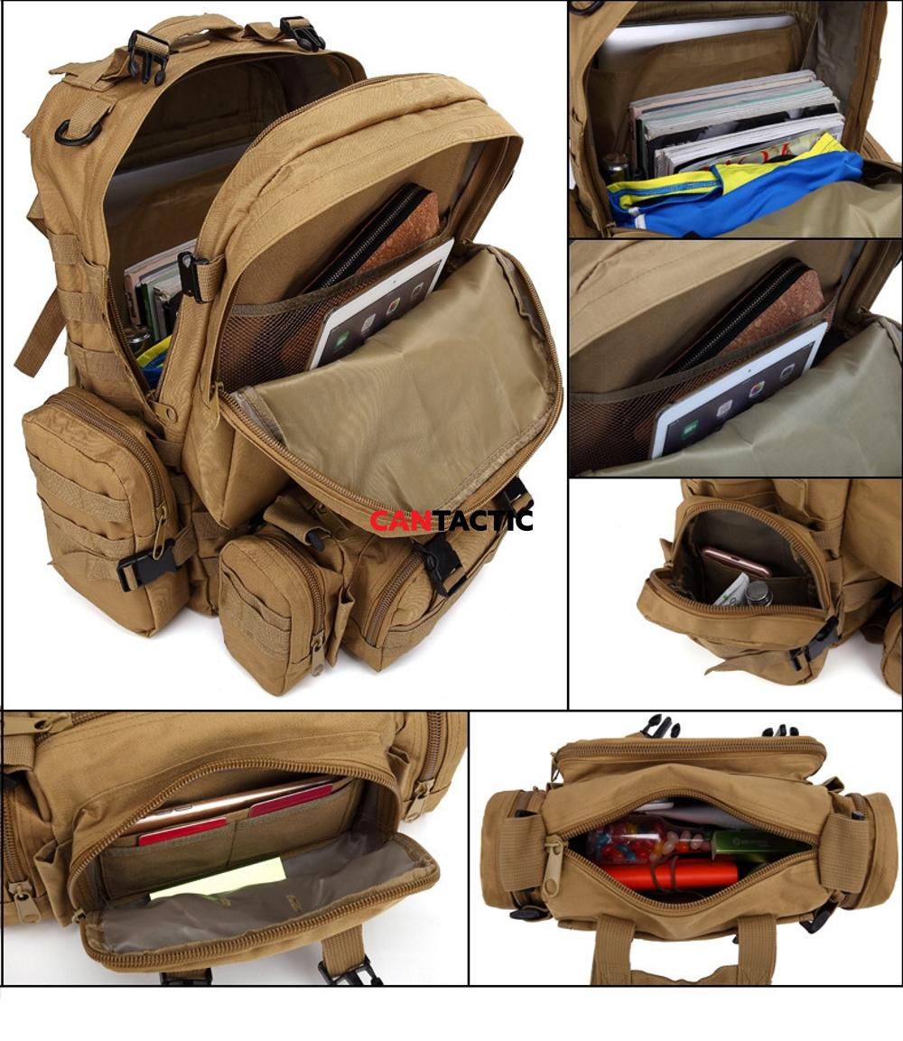 Multiple compartments and inside shots