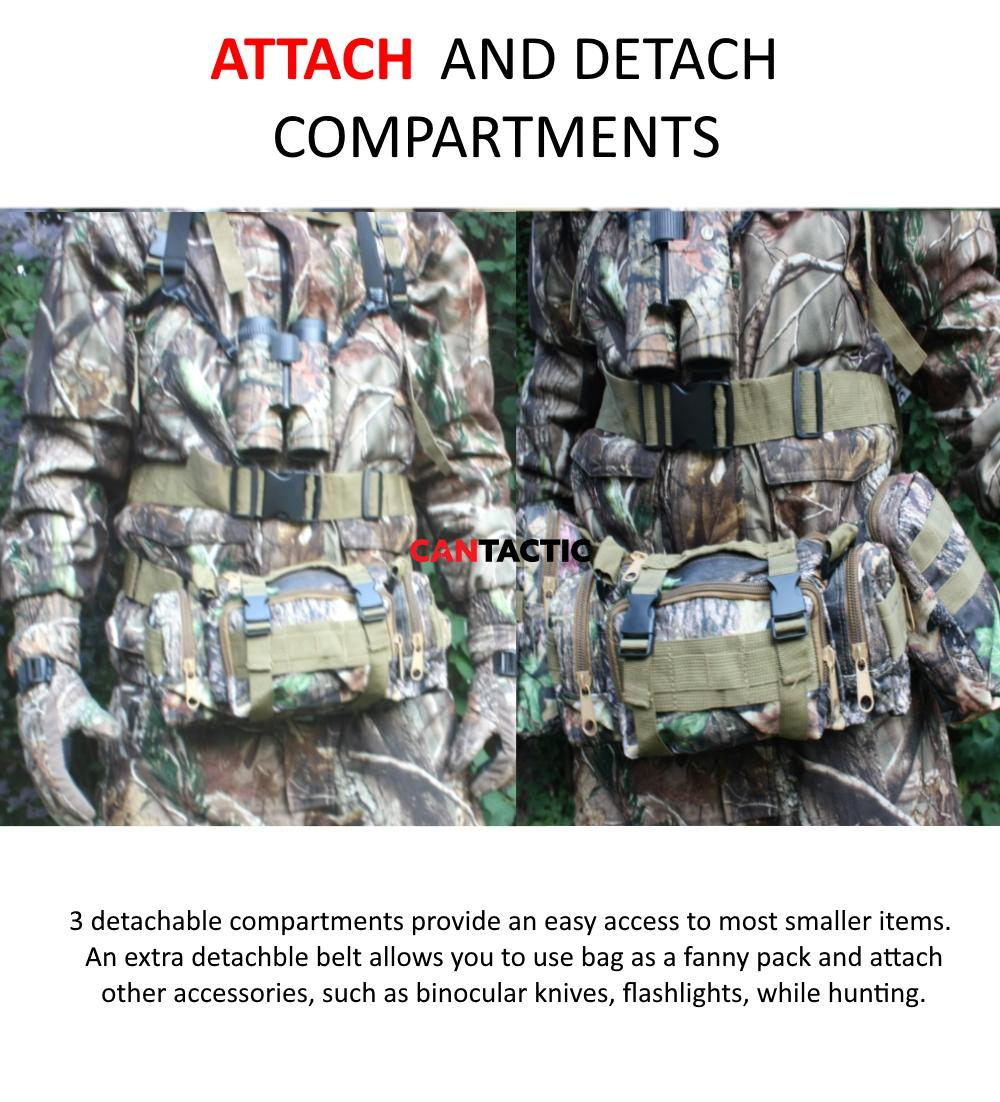 attach and detach compartments