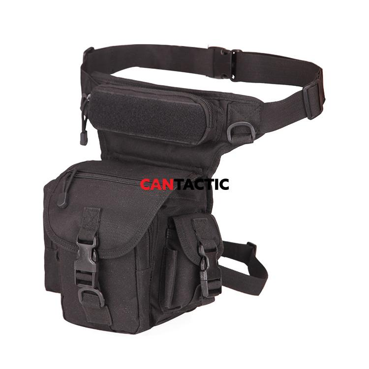 Military Tactical Drop Leg Bag Tool Fanny Thigh Pack  1000D high density oxford