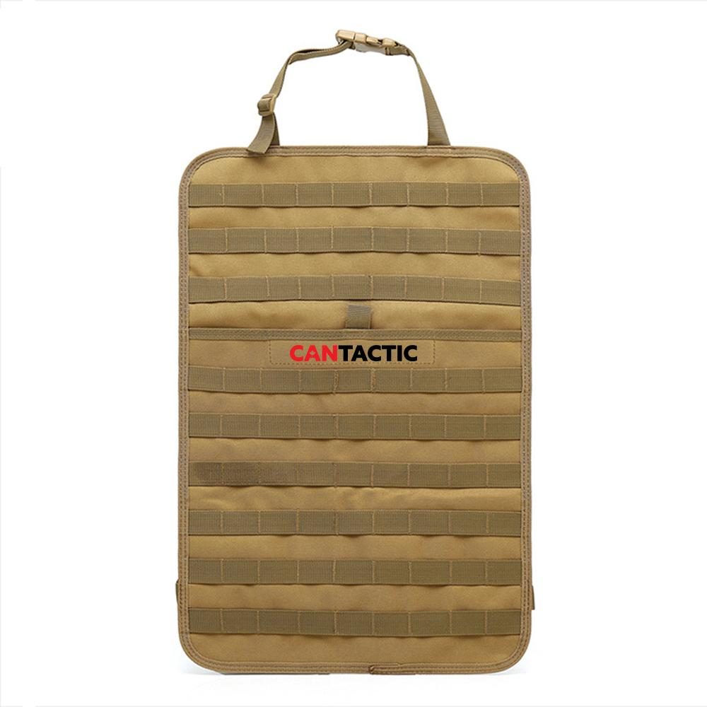 Tactical Molle System Car Seat Back Organizer Pocket Storage Vehicle Panel Car Seat Cover Protector Universal Fit