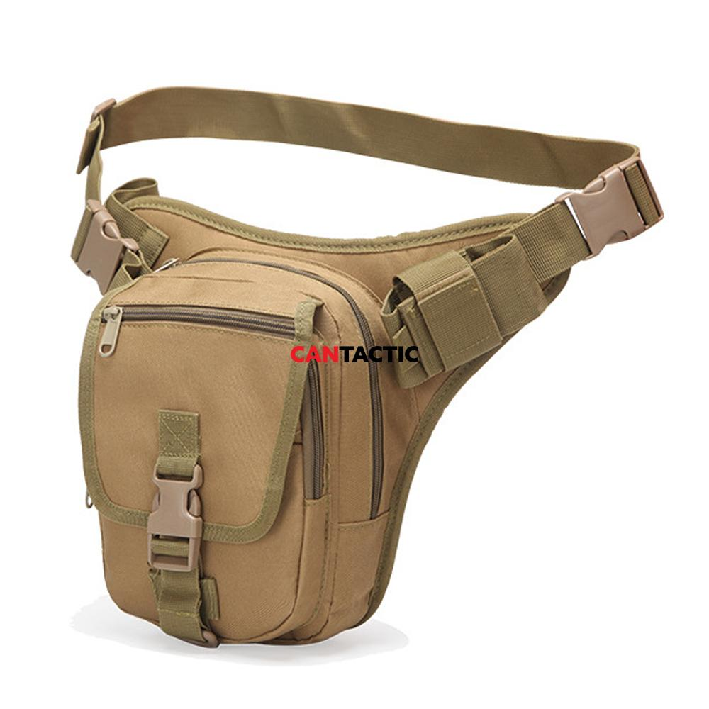 Outdoor military waist bag, tactical waist pack shoulder bag multi-pocket molle system
