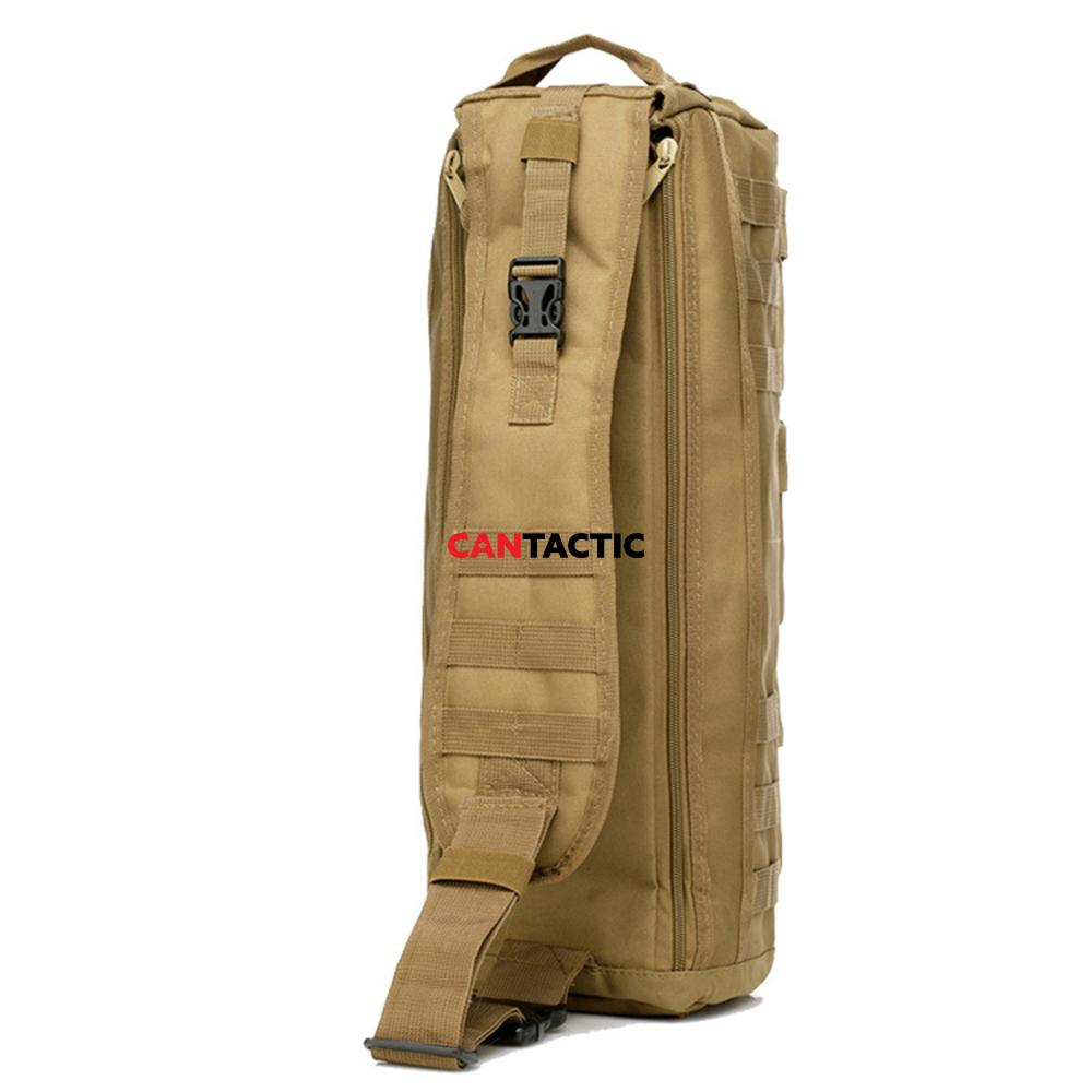 Tactical Airsoft MOLLE Backpack Assault Go Bag Shoulder Sling Military Paintball Tan Hiking Camping Pack Messenger Bag Tote Bag