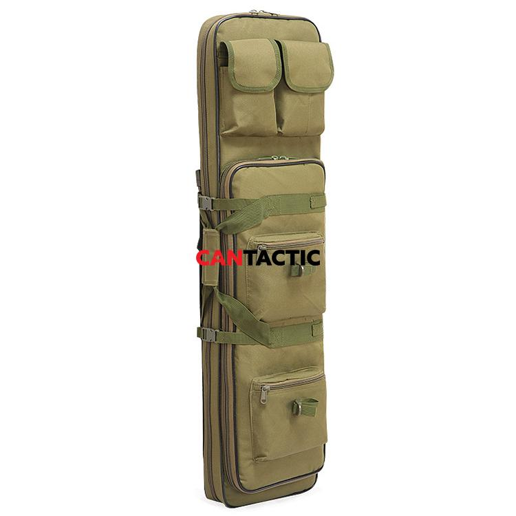 100cm Tactical Dual Rifle Carry Bag with Shoulder Strap Waterproof Military Airsoft Gun Case Pouch Protection Hunting Bag
