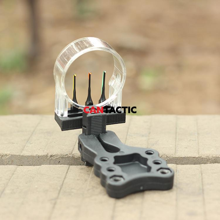 Basic 3 pin sight plasti sight fibre optic sight.