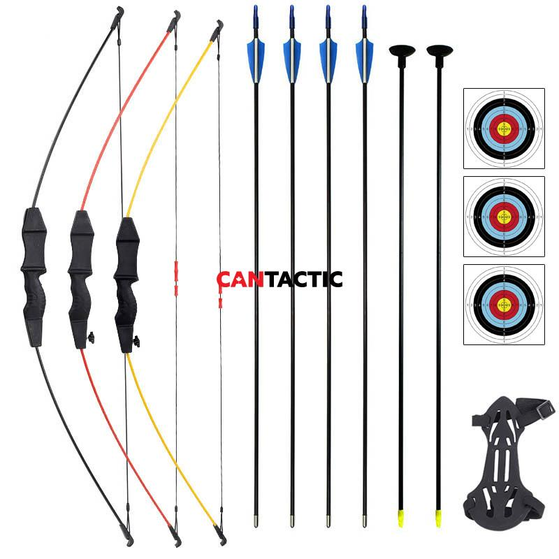 "Archery 45"" Bow and Arrow Set Hunting Sports Game Target Shooting Toy Gift Takedown Recurve Bow for outdoor shooting nd"