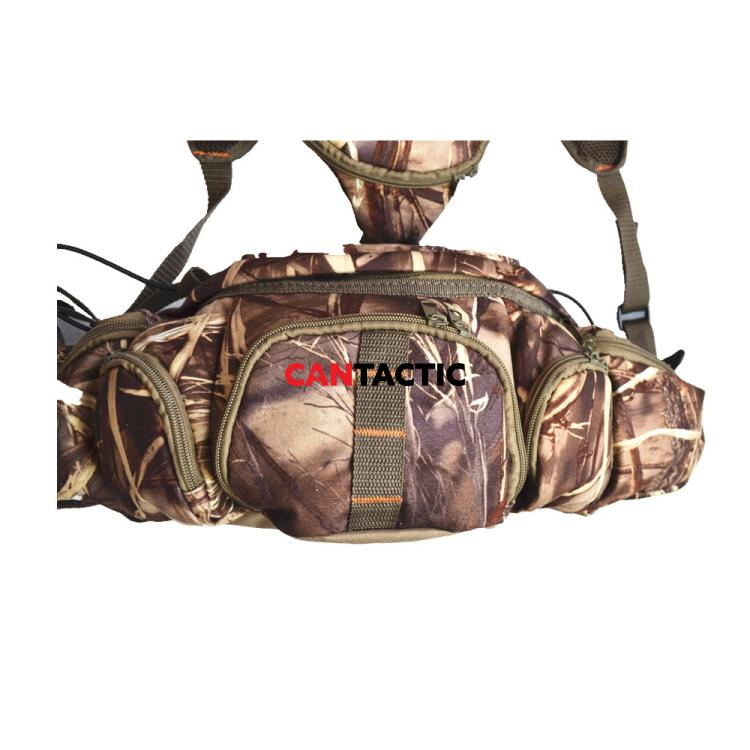Hunting Camo Fanny Waist Pouch Pack Harness for Climbing Hiking Camping Running Travelling