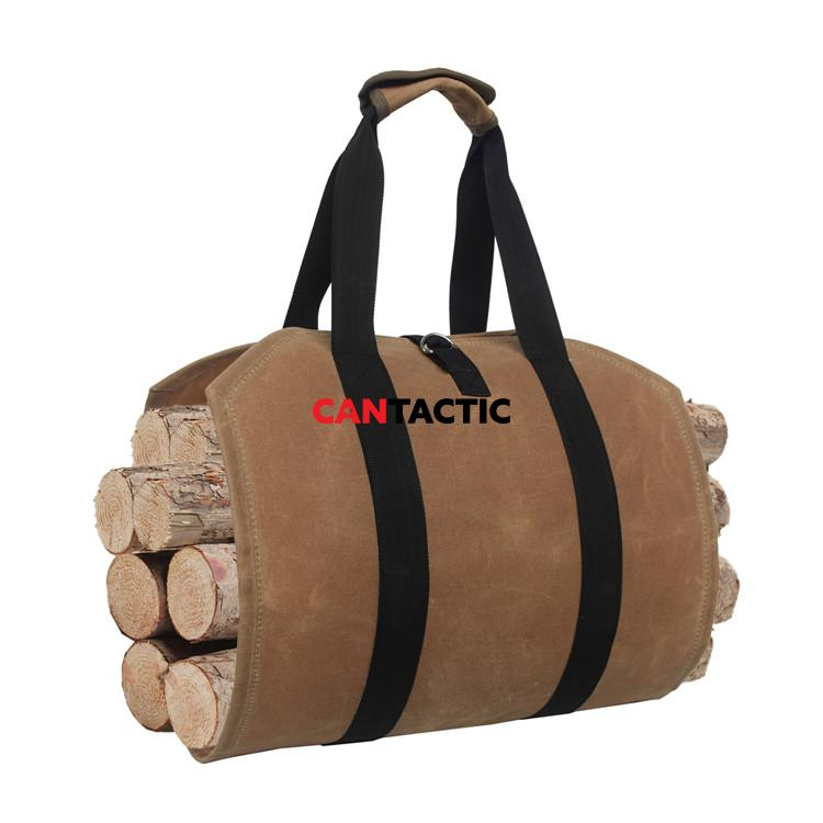 Durable-Waterproof-Waxed-Canvas-Firewood-Log-Carrier (1)