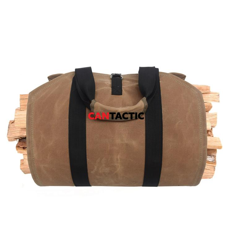 Durable-Waterproof-Waxed-Canvas-Firewood-Log-Carrier (2)