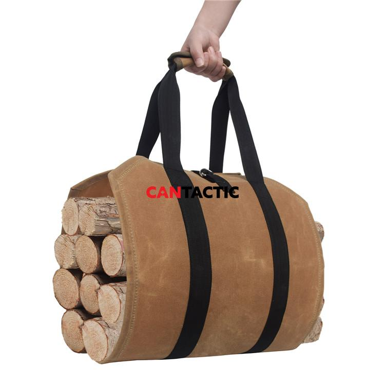Durable-Waterproof-Waxed-Canvas-Firewood-Log-Carrier (3)