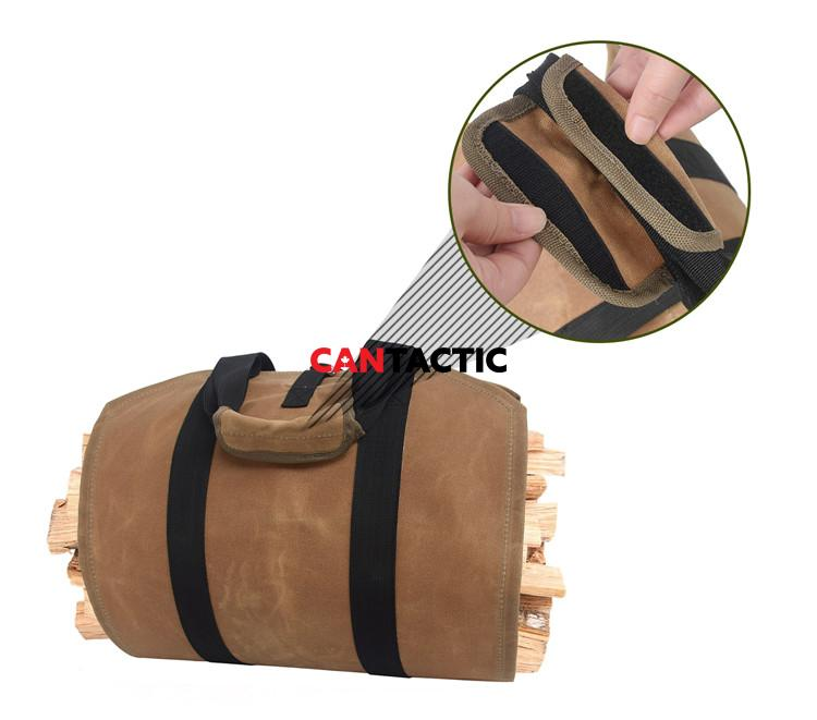 Durable-Waterproof-Waxed-Canvas-Firewood-Log-Carrier (5)