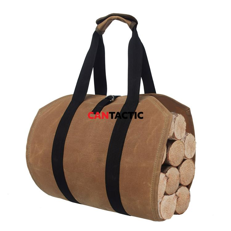 Durable-Waterproof-Waxed-Canvas-Firewood-Log-Carrier