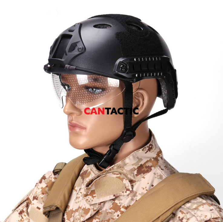 Tactical Outdoor Airsoft Safety helmet with Goggles Cam mount