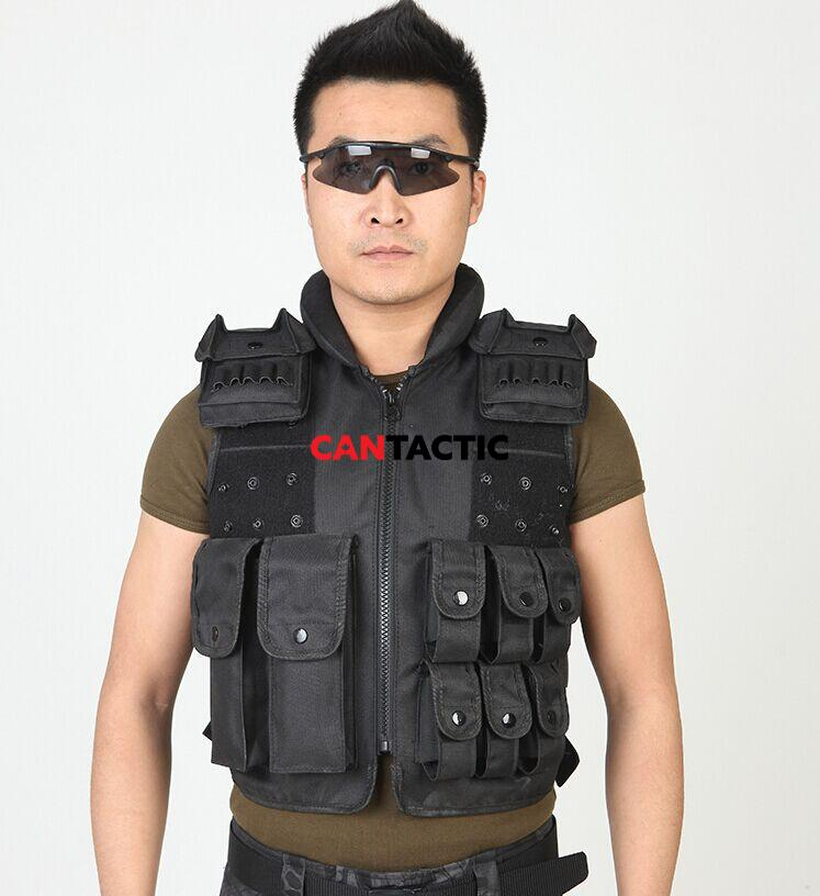 Field Tactical Vest Unisex Security Protection Oxford Material Training Combat Pure Color Adults Protective Clothing Vest