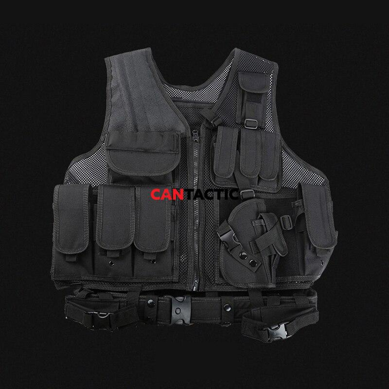 Army Tactical Equipment Military Molle Vest Hunting Armor Vest Airsoft Gear Paintball Combat Protective Vest For CS Wargame